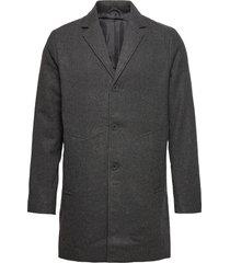 6209615, jacket - sdfayette fauxwoo wollen jas lange jas grijs solid