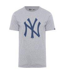 camiseta masculina básico essentials - cinza