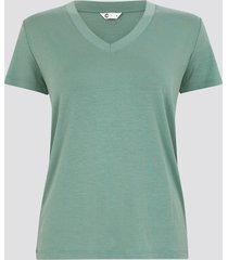 t-shirt med v-ringning - mintgrön