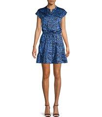 zebra-print mini dress