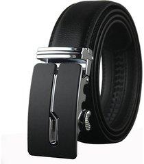 cinturón cuero hombre hebilla automatica 125cm ly699 01