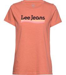 crew neck tee t-shirts & tops short-sleeved röd lee jeans