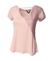 blusinha t-shirt viscolycra com detalhe em lurex