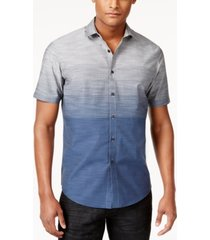 i.n.c. men's zeddie ombre stripe short-sleeve shirt, created for macy's