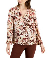 alfani printed button-front shirt, created for macy's