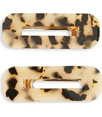 2-piece tortoiseshell-print hair clip set