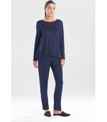 natori calm pajamas / sleepwear / loungewear, women's, blue, size l natori