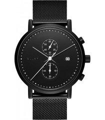 zegarek makonnen all black chronograf