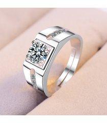 elegante paio di anelli in oro placcato intarsiato gioiello artificiale anello aperto gioielli formali per le donne uomini