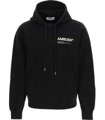 ambush logo sweatshirt with hoodie