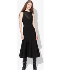 proenza schouler matte viscose knit dress black xs