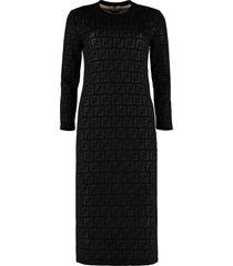 fendi knitted sheath dress