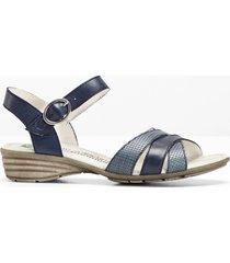 sandalo comodo in pelle (blu) - bpc selection