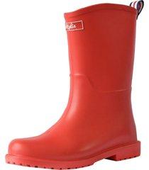 botas lluvia mediana yorq bottplie - rojo matte