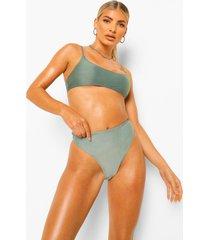 mix & match bikini broekje met hoge taille, sage