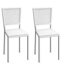 conjunto de cadeiras aço carbono compoarte boston 2 peças c150