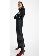 palazzo knit trousers - black - s