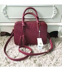 nwt tory burch thea small rounded double-zip satchel