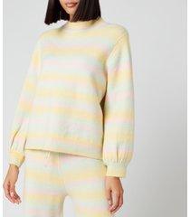 olivia rubin women's nettie knitted jumper - pastel ombre - xs