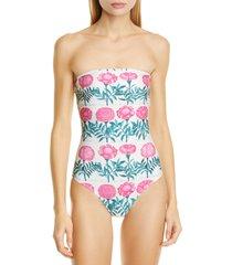 women's adriana degreas strapless one-piece swimsuit