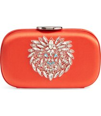 giambattista valli zodiac embellished clutch - orange