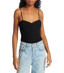 cami women's nicole bustier silk bodysuit - black - size xs