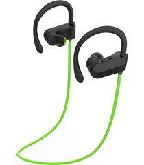 audífonos bluetooth deportivos, q12 auriculares de música de oreja colgante estéreo audifonos bluetooth manos libres  auriculares de deportes (verde)