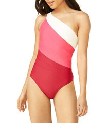 women's summersalt the sidestroke one-piece swimsuit, size 22 - pink