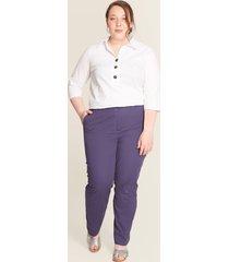 pantalón contraste costura azul 14