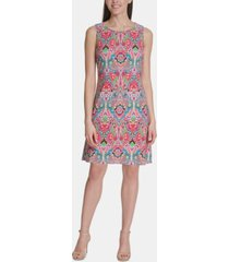 tommy hilfiger petite printed a-line dress