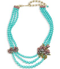 elysees multi-color crystal glass beaded necklace