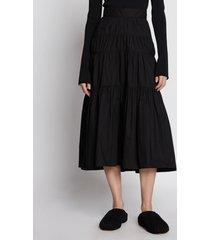 proenza schouler poplin tiered skirt black 8