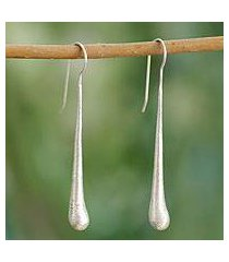 sterling silver drop earrings, 'cotton candy' (india)