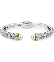 women's lagos luna pearl cuff bracelet