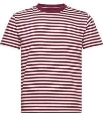 t-shirt stockholm stripes t-shirts short-sleeved röd dedicated