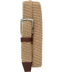 men's johnston & murphy stretch knit belt, size 42 - tan