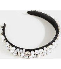 lena pearl covered headband - pearl