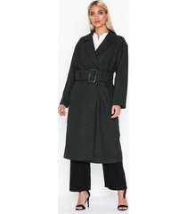 nly trend long belted coat kappor