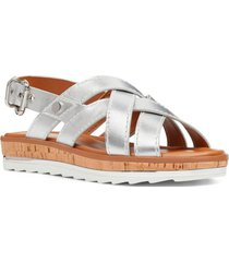 sandalia aliyah plateado casual nine west