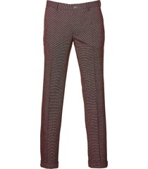 sale - british indigo pantalon - slim fit - rood