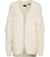 grace over d cable cardigan gebreide trui cardigan crème superdry