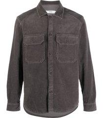 closed corduroy button shirt - grey