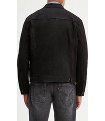 men's levi's denim trucker jacket, size small - black