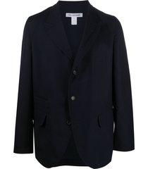comme des garçons shirt peak lapel wool blazer - blue