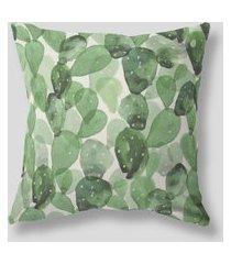 amaro feminino design up living capa de almofada cactos 42x42, verde