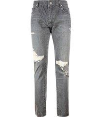 balmain destroyed jeans