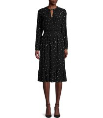 rails women's joy star-print dress - onyx starburst - size xs