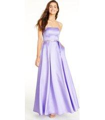 sequin hearts juniors' rhinestone-waist gown