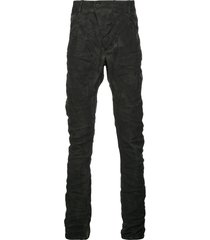 boris bidjan saberi ruched skinny trousers - black