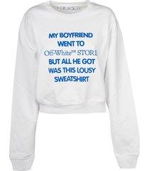 off-white my boyfriend flock crop sweatshirt